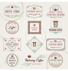 Retro Coffee Labels vector