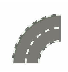 Road bend icon in cartoon style vector