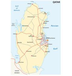 Road map qatar vector