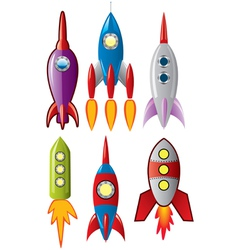 rocket ships vector image
