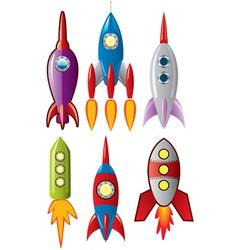 Rocket ships vector