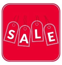 sale offer red vector image