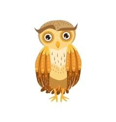 Sceptic owl cute cartoon character emoji vector