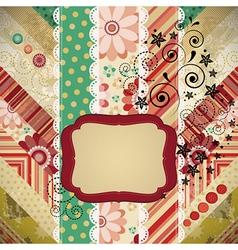 Scrap patchwork background vector image