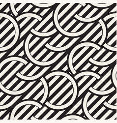 seamless monochrome waving pattern abstract vector image vector image