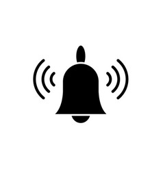 signaling black icon sign on isolated vector image