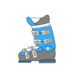 Ski boots line hand drawn icon vector