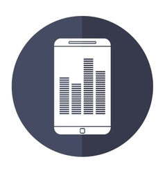 Smartphone screen equalizer music shadow vector