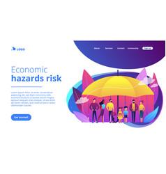 Social insurance concept landing page vector