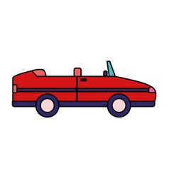 Sport convertible car vehicle transport white vector