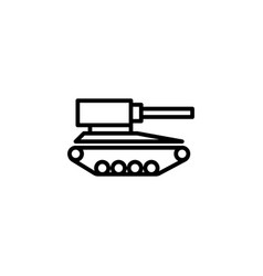 tank icon with line style vector image