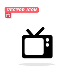 tv icon white background image vector image