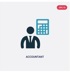 Two color accountant icon from people skills vector