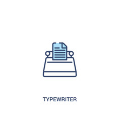 Typewriter concept 2 colored icon simple line vector