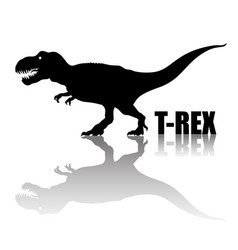 tyrannosaurus rex silhouette with transparent vector image