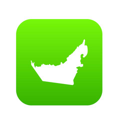 united arab emirates map icon digital green vector image