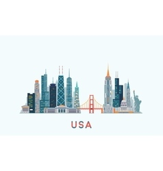 USA skyline vector