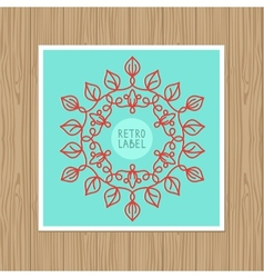 Vintage greeting card with outline frame vector
