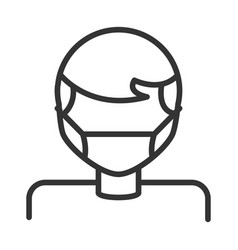 virus covid 19 pandemic man wearing protective vector image
