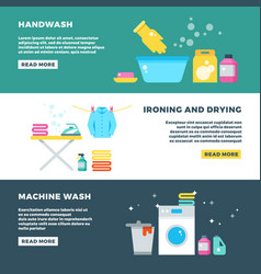 washing and drying clothes laundry service vector image