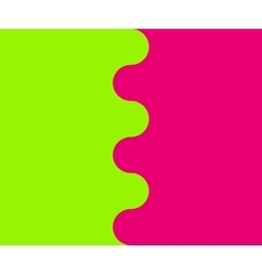 Wavy border between two colors vector image