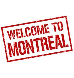 Welcome to montreal stamp vector