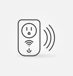 Wi-fi us smart socket concept outline icon vector