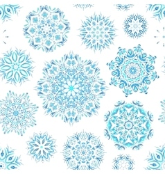Winter seamless pattern with beautiful snowflakes vector image