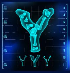 Y letter capital digit roentgen x-ray vector