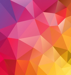 Yellow red spectrum polygon triangular pattern vector