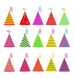birthday hat set vector image