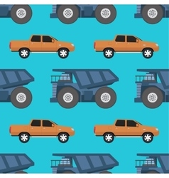Cargo truck seamless pattern vector image vector image