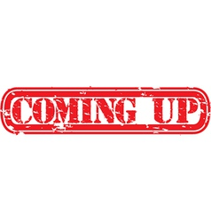 Coming up stamp vector image
