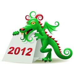 dragon calendar vector image