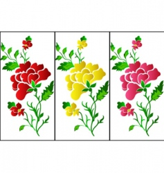 flower pattern vertical rose tattoo vector image vector image