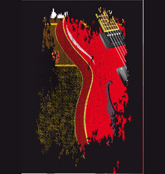 guitar and amplifier grunge vector image