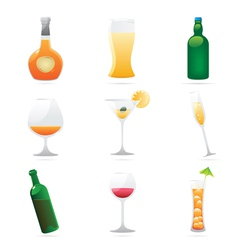 Icons for drinks vector image