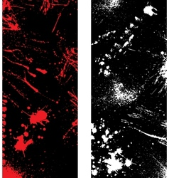 Ink blots banners vector image vector image