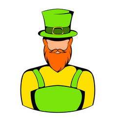 irish leprechaun icon icon cartoon vector image