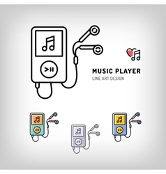 Music player isolated icon vector image