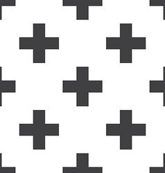plus seamless pattern vector image