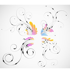 Curled Design Elements vector image vector image