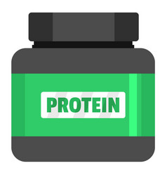 protein icon flat style vector image