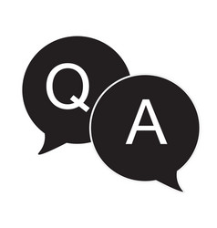 questions amp answers speech bubbles flat icon vector image vector image