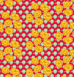 retro and vintage flower Pattern vector image vector image