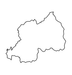 rwanda map of black contour curves on white vector image vector image