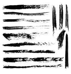 Set of 14 artistic mascara brush strokes vector image