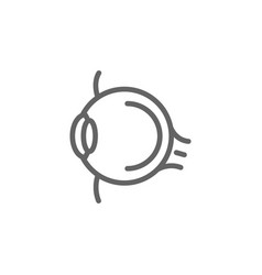 simple eye line icon symbol and sign vector image vector image