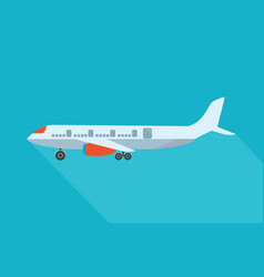aircraft flat design style vector image