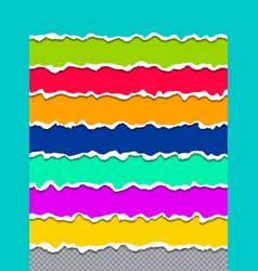 creative of multicolor torn vector image